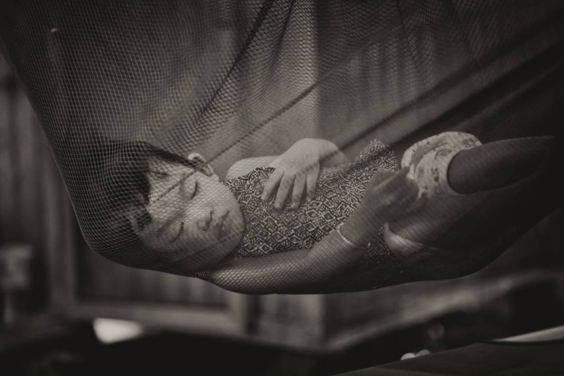 Sleeping Baby at the Market