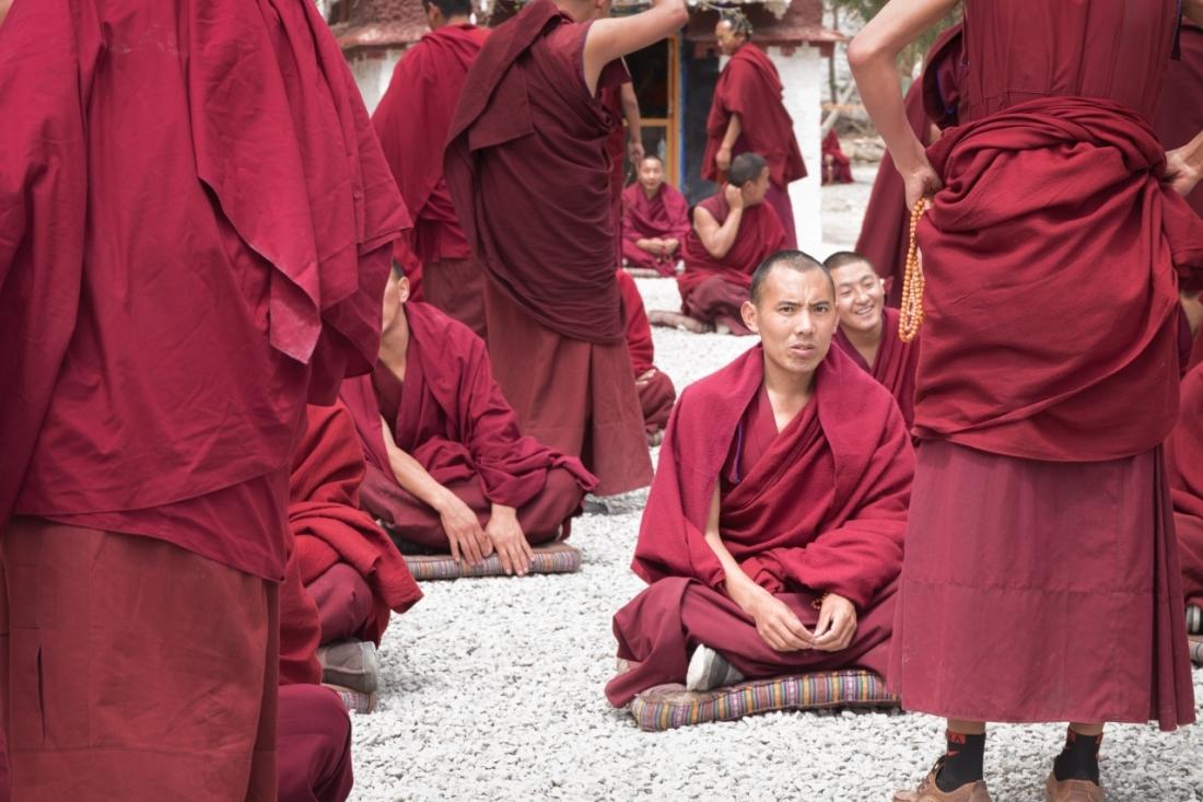 Monks in the Debate Courtyard