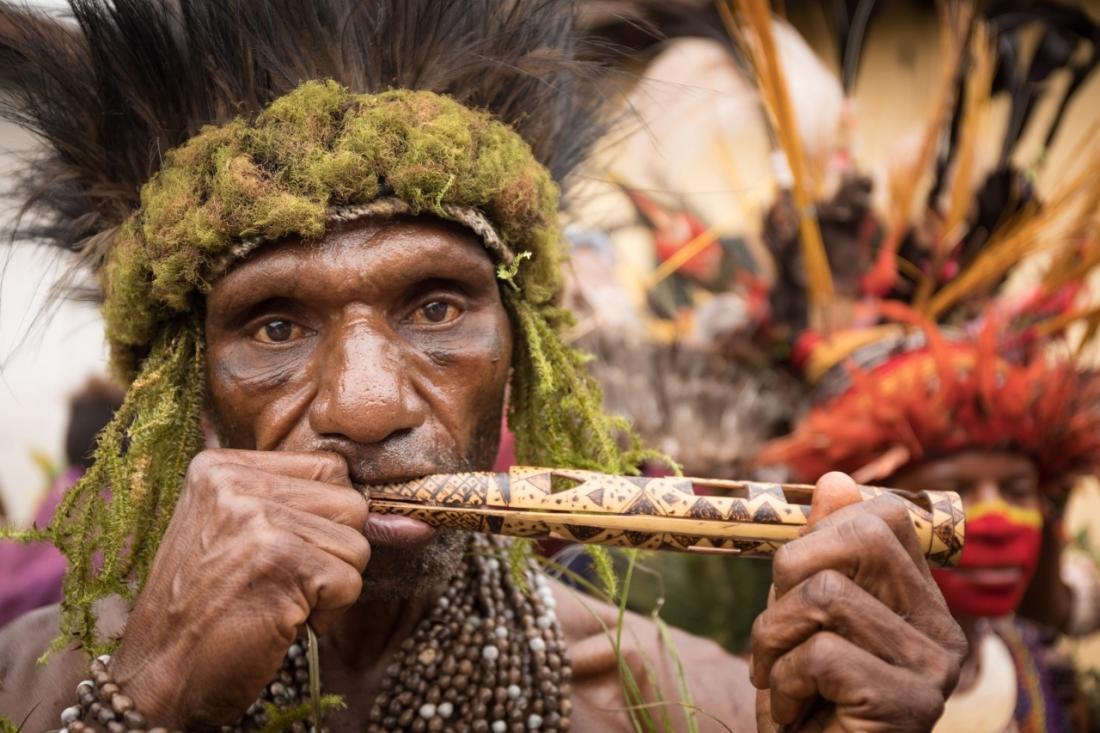 Jiwaka Tribe Musician